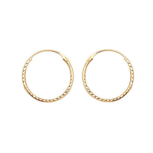 9ct Gold Diamond Cut Sleeper Earrings