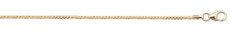 9ct Gold Spiga Chain Anklet
