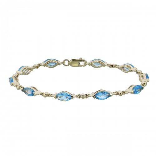 9ct Gold Blue Topaz Bracelet