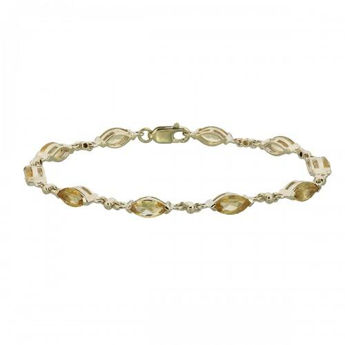 9ct Gold Citrine Bracelet