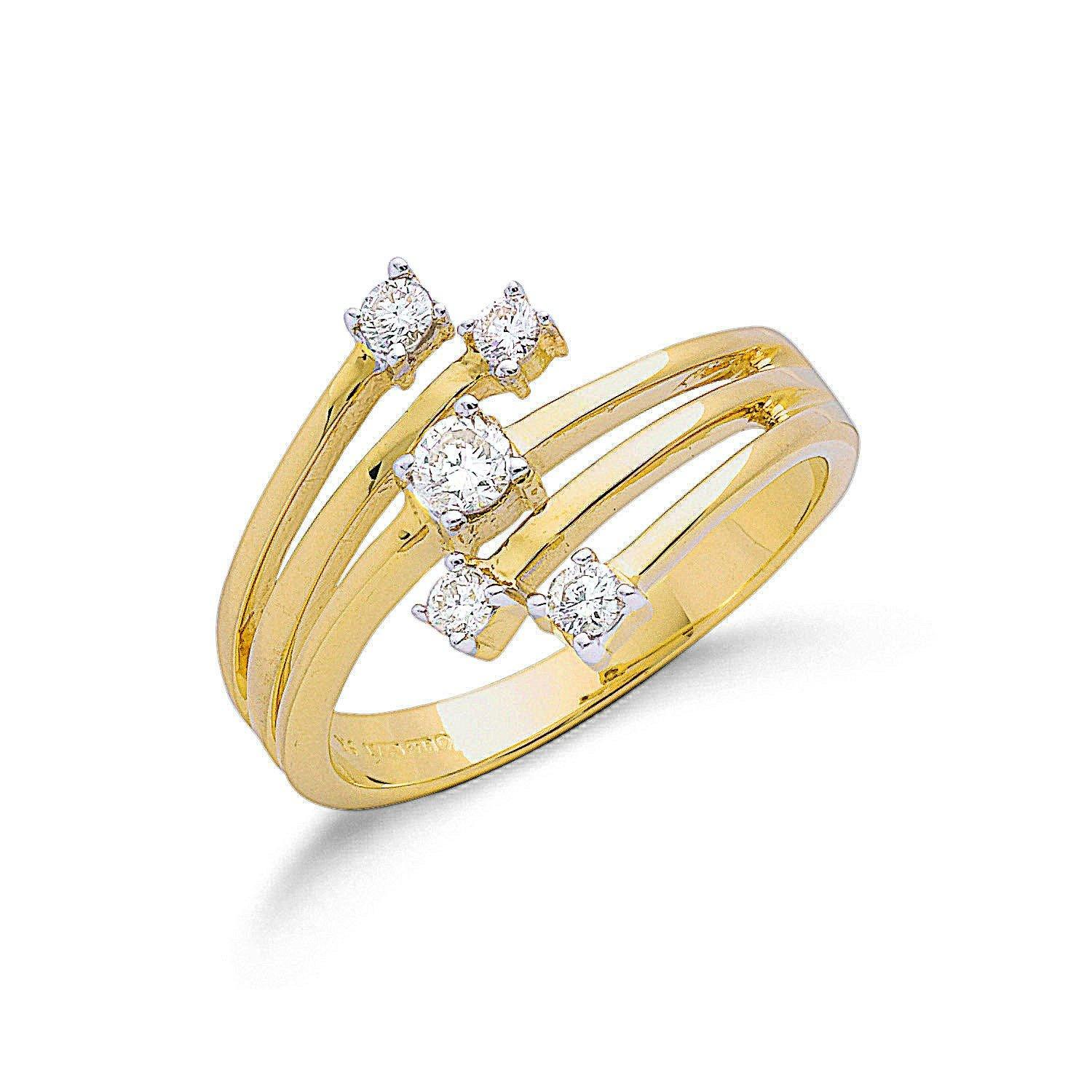 9ct Gold Diamond Ring 0.3ct Jewellery Hanron