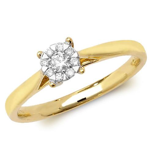 9ct Yellow Gold Diamond Ring Jewellery Treasure House Limited J