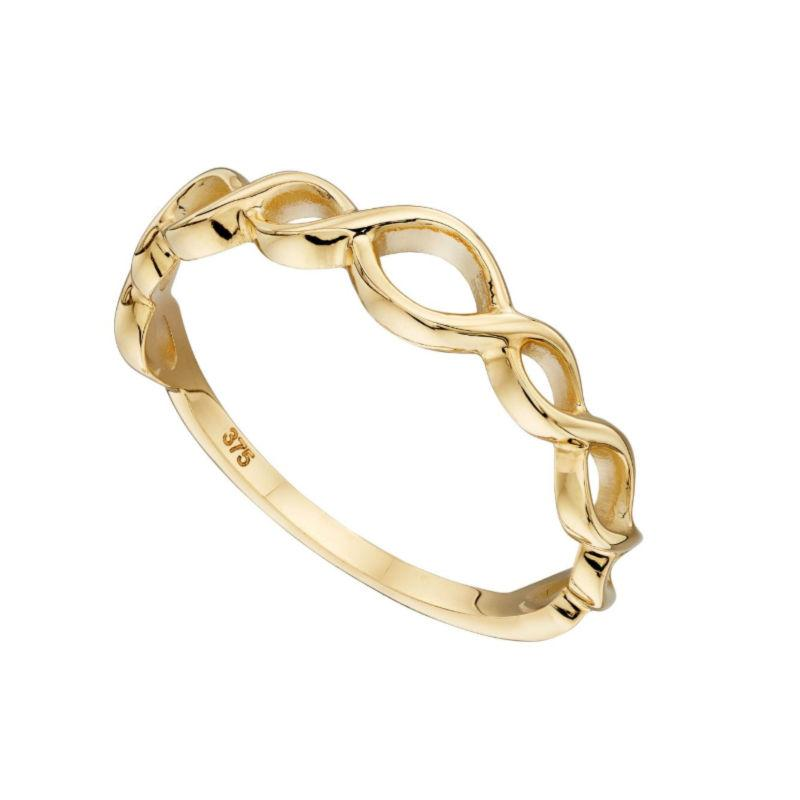 9ct gold infinity signs band