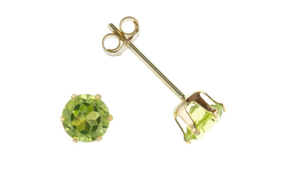 9ct Gold Studs with Peridot Jewellery Ian Dunford