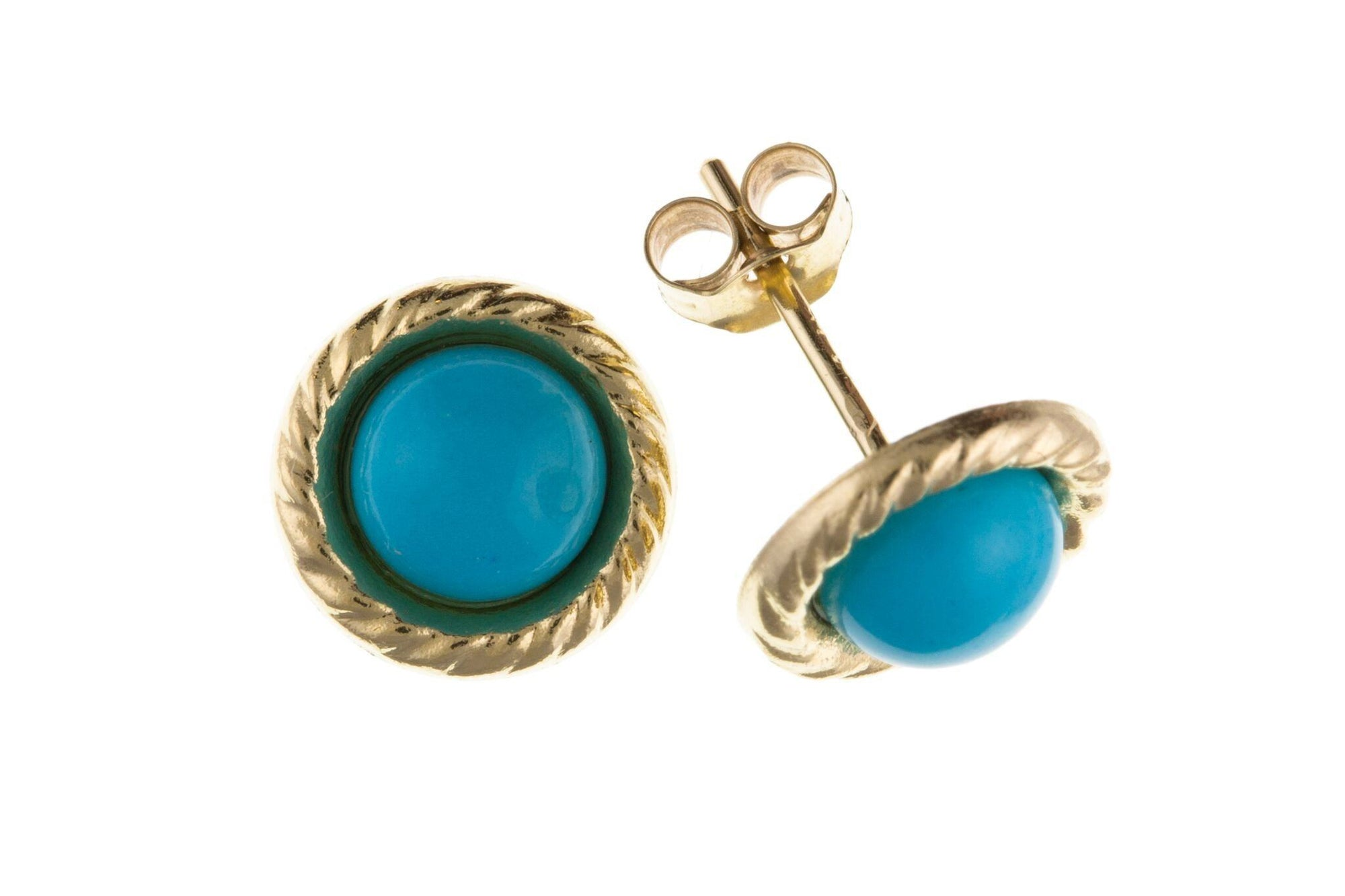 Gold Turquoise Earrings Jewellery JoolsJewellery.co.uk