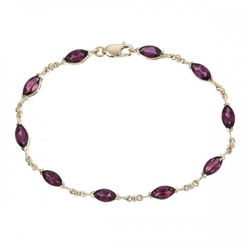9ct Gold Rhodolite Bracelet Jewellery Expressions
