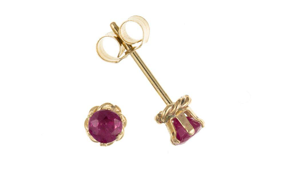 9ct Ruby Stud Earrings