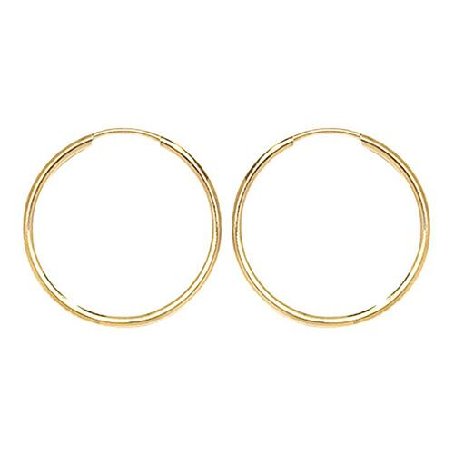 9 ct Gold 18 mm Sleeper Earrings Jewellery Treasure House Limited