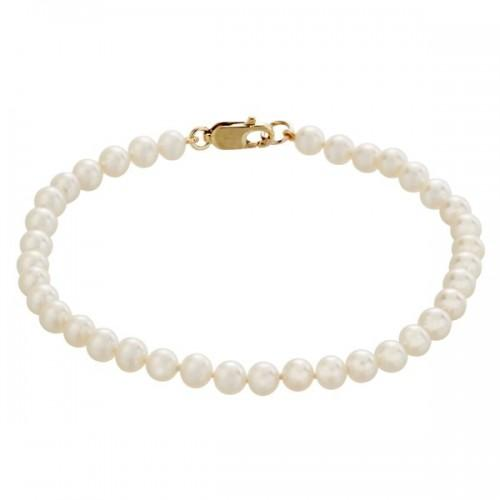 9ct Gold and White Freshwater Pearl Bracelet