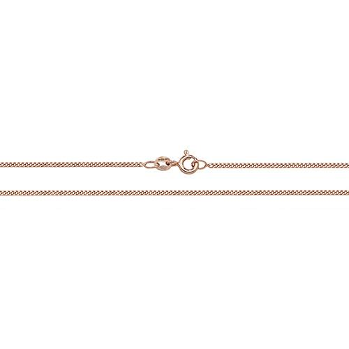 9ct Rose Gold Curb Chain Jewellery Treasure House Limited 18""