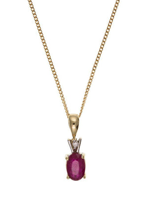 9ct Ruby and Diamond Pendant