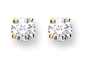9ct Gold Diamond solitaire stud earrings