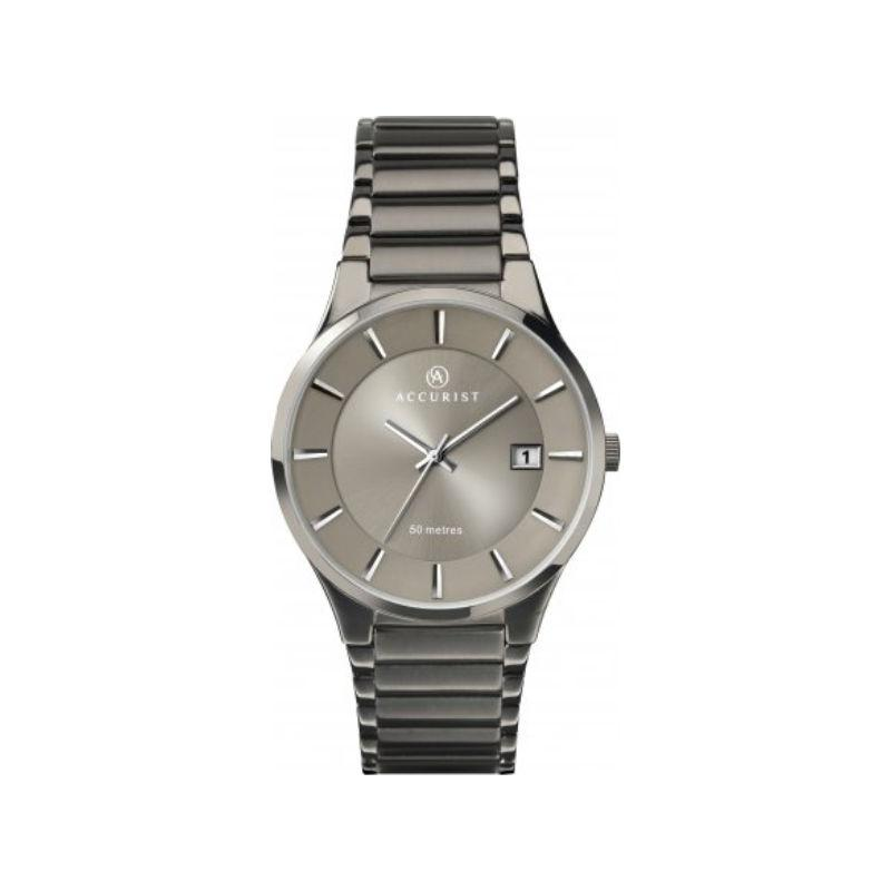 Accurist 7009 Men's Gunmetal Grey Watch Watches Accurist