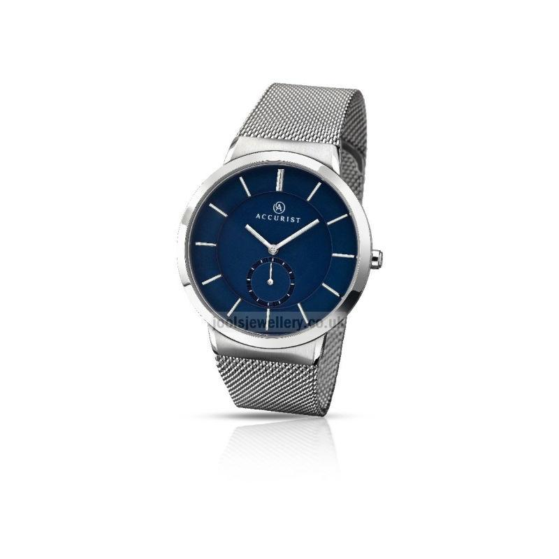 Accurist Men's Watch with Mesh Strap and blue dial