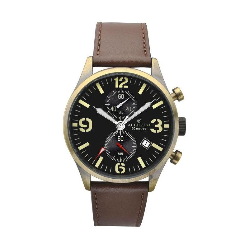 Accurist 7023 Men's Watch with Brown Strap Watches ACCURIST