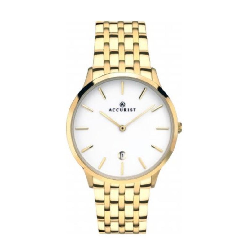 Accurist 7239 Men's Gold-Tone Watch Watches ACCURIST