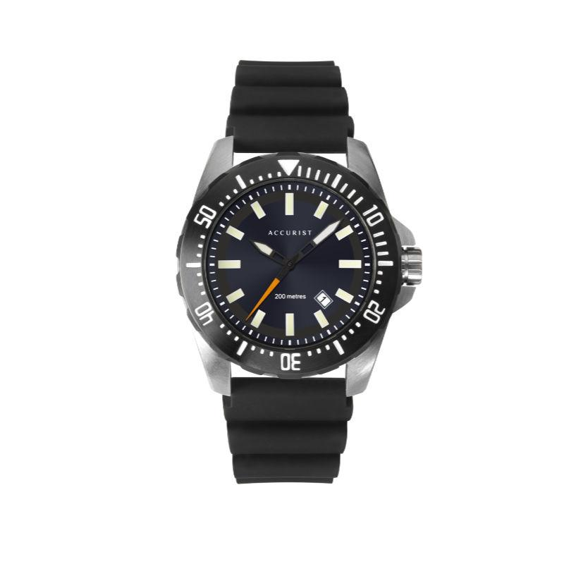 Accurist 7307 Men's Diver-Style Watch in Black Watches ACCURIST