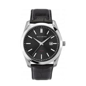 Men's Solar Powered Watch by Accurist with black strap and dial