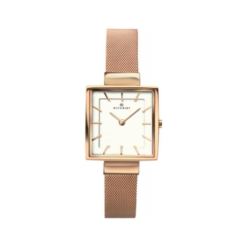 Accurist 8132 Ladies Watch with Rose Gold Mesh Bracelet Watches ACCURIST