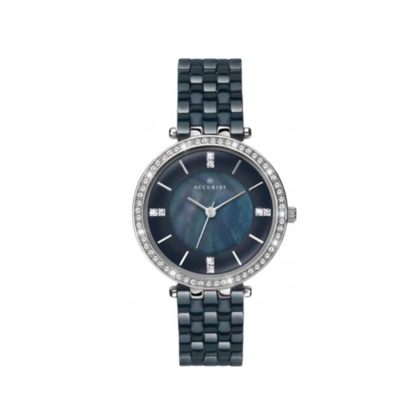 Accurist 8162 Ladies Ceramic Watch with Mother of Pearl Dial Watches ACCURIST