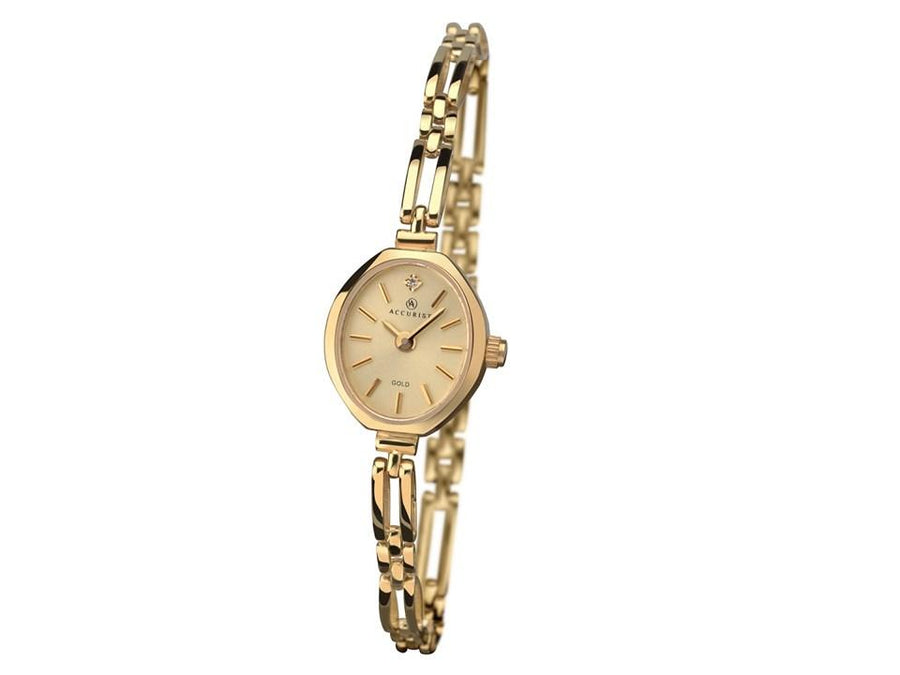 Accurist 9ct Gold Ladies Watch with Diamond 8804