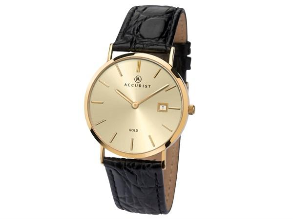 Accurist 9ct Gold Men's Watch 7802