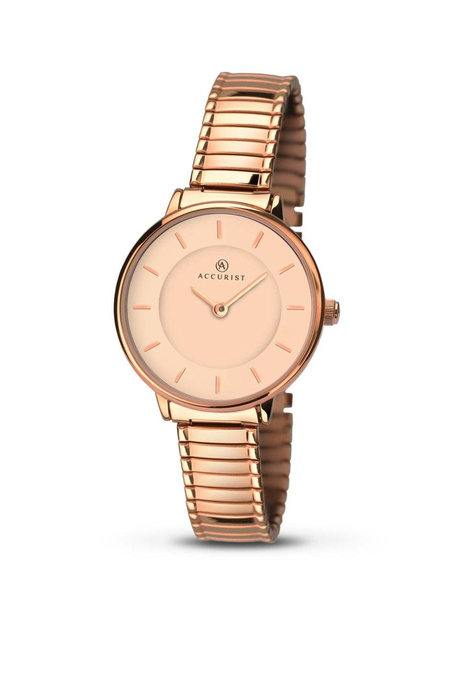 Accurist Rose Gold Watch with Expanding Strap 8141