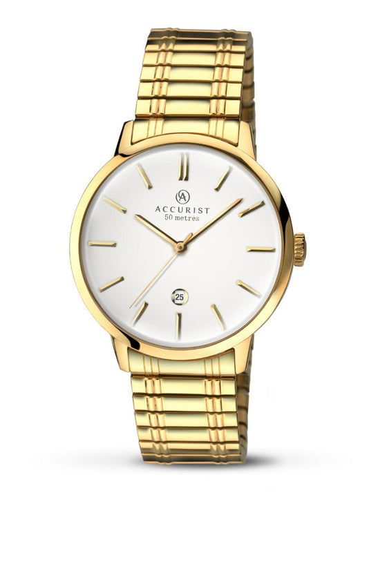 Accurist Classic Mens Gold Watch 7098