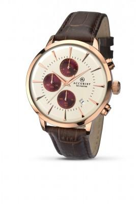 Accurist Mens Watch Rose Gold Chronograph 7034