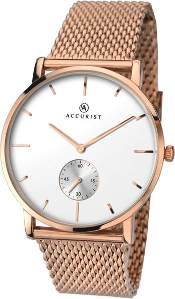 Accurist Men's Watch with Rose Gold Strap 7128