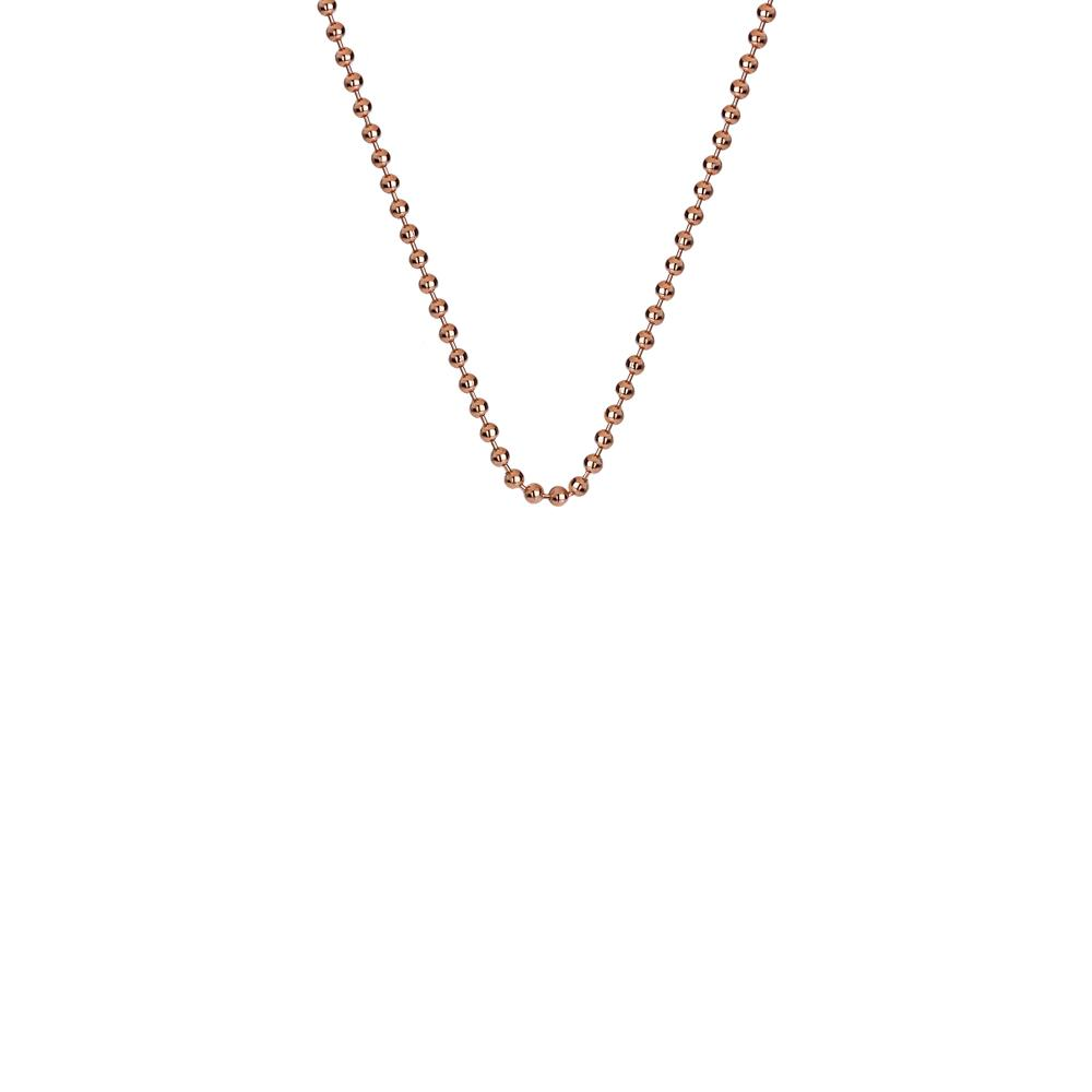 A rose gold beaded chain