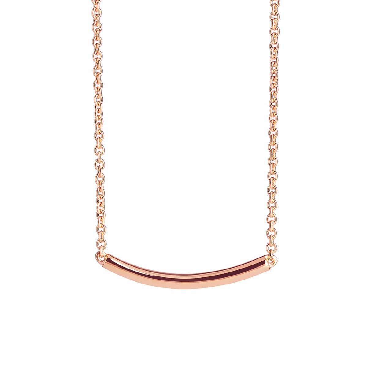 Muru Silver Arc Necklace in Rose Gold Vermeil Jewellery Muru