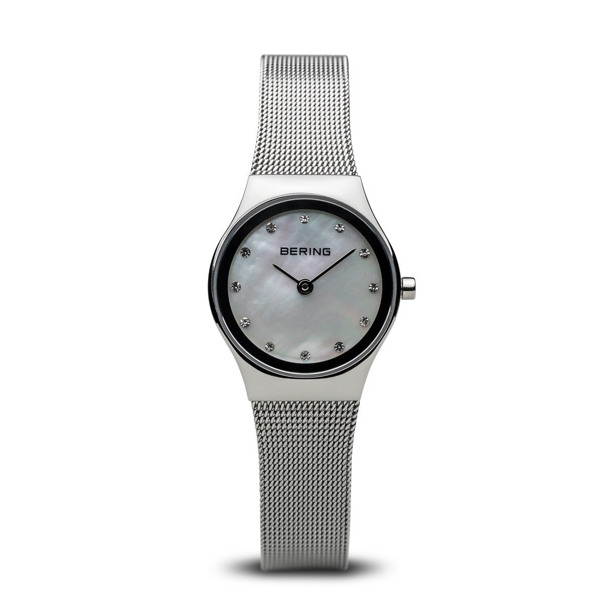 Bering ladies watch with mother of pearl dial and mesh strap
