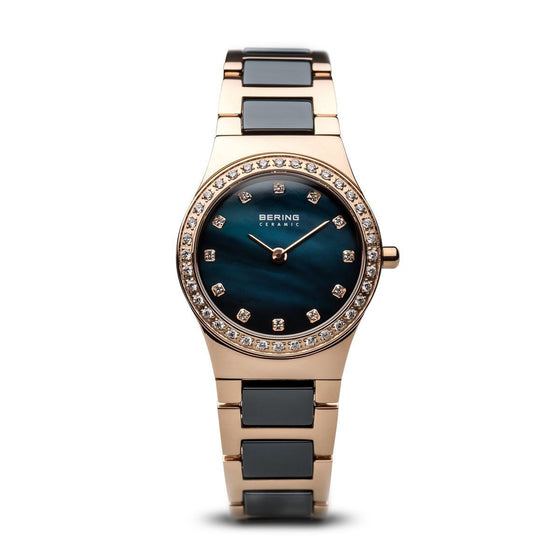 Bering-Rose-in-Gold-and-Blue-Laies-Ceramic-Watch-with-CZ-32430-754-Jools-Jewellery