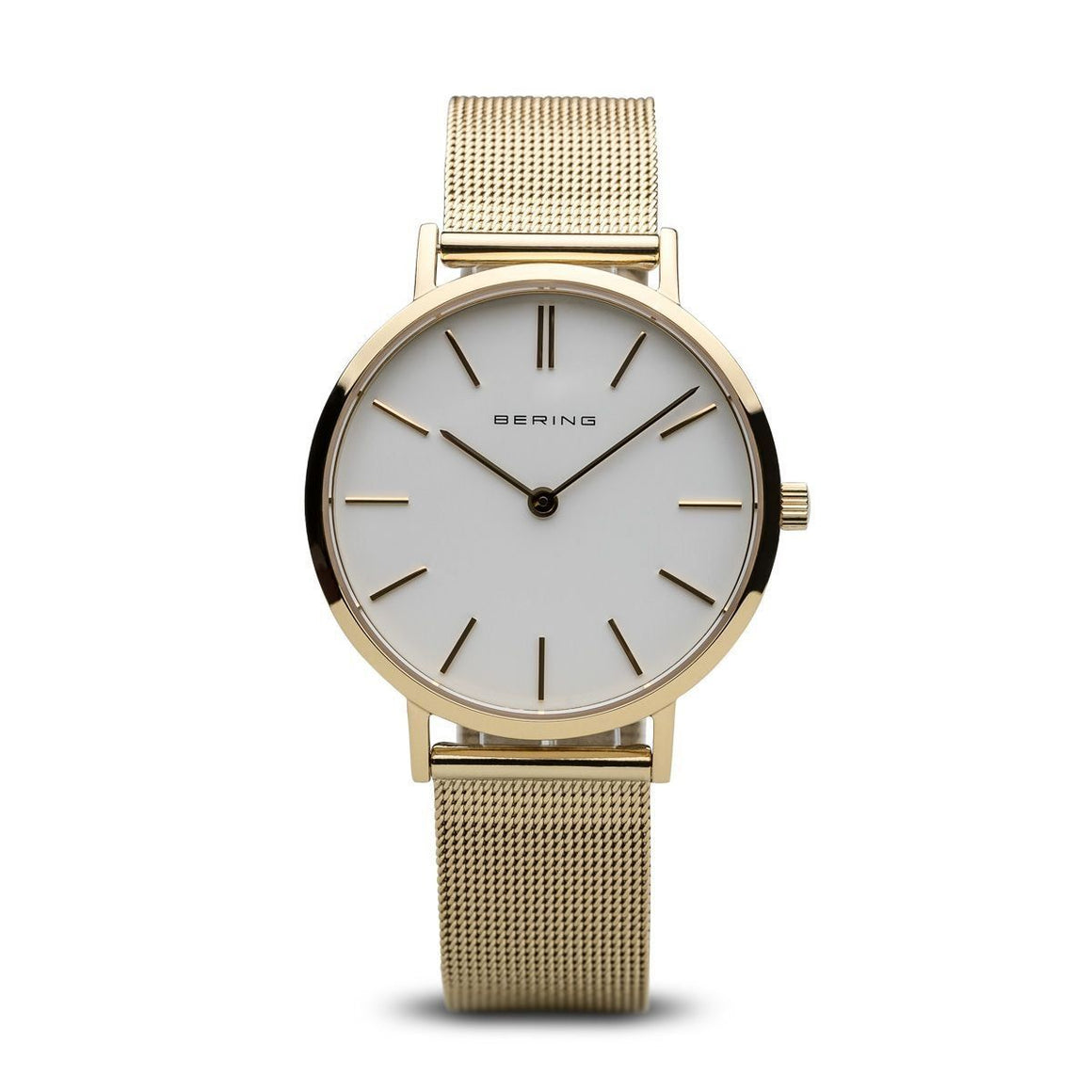 Berings-Ladies-Watch-Gold-Tone-Mesh-Strap-14134-331-from-Jools-jewellery