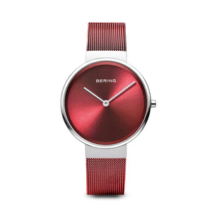 Ladies Berings Watch with Red Milanese Strap 14531-303
