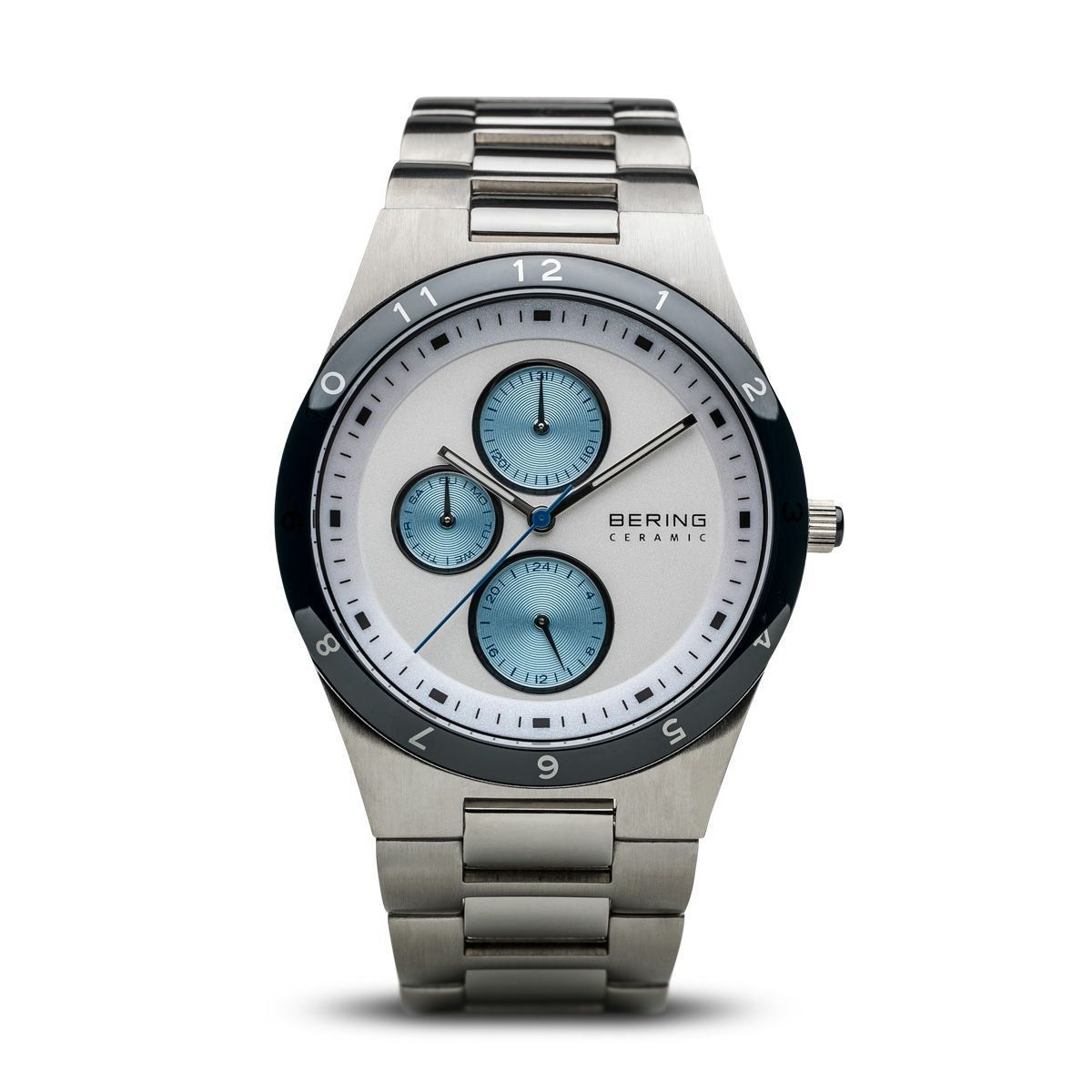 Bering Men's Ceramic Watch with Steel Strap Watches Bering