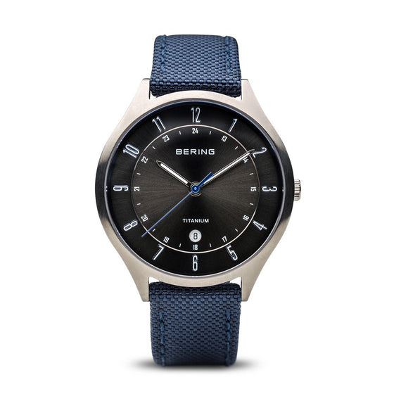 Bering Titanium Watch with Nato Strap 11739-873