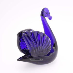Bristol Blue Glass Swan with Wings Gifts Bristol Blue Glass
