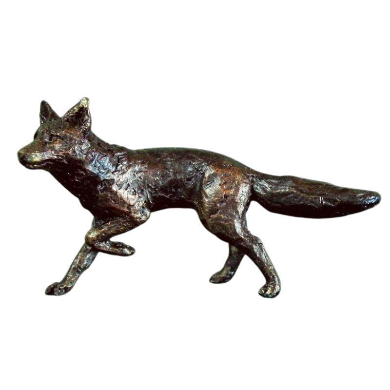 Bronze Fox Running Sculpture Gifts Richard Cooper & Co