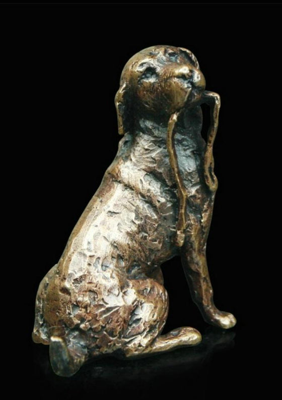 Bronze Labrador with Lead Sculpture