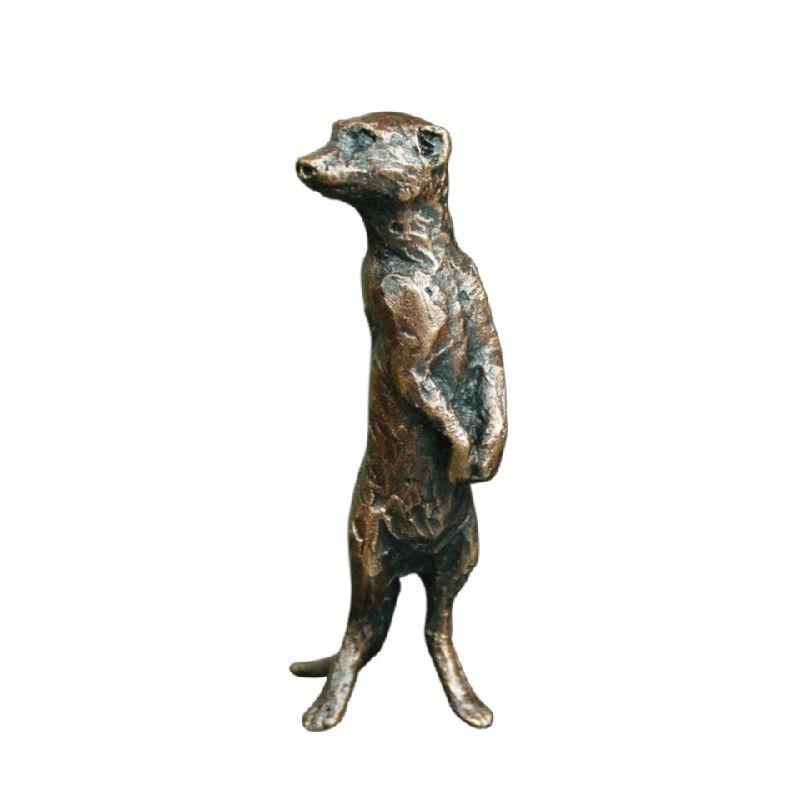 Bronze Meerkat, Standing Sculpture Gifts Richard Cooper & Co