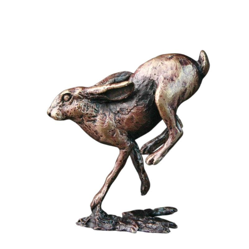 Bronze Running Hare Sculpture Gifts Richard Cooper & Co