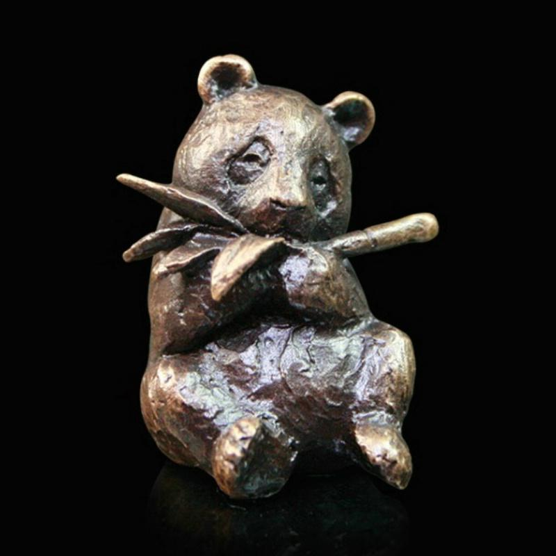 Butler and Peach 2062 Bronze Panda Sculpture