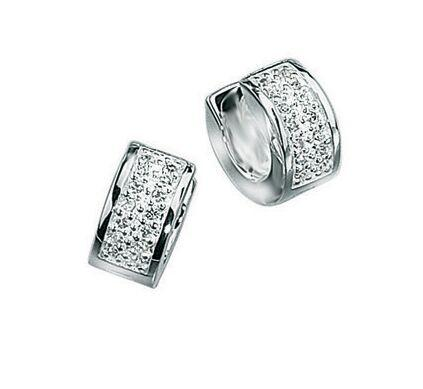 Clear CZ Huggies Earrings