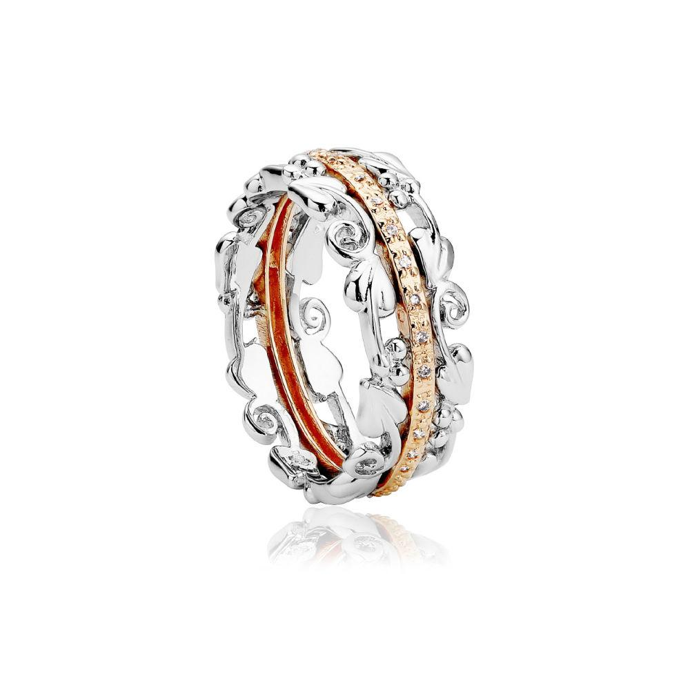 Clogau Am Byth Ring with Diamonds 3SABR01T Jewellery CLOGAU GOLD J