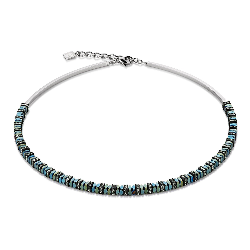 Coeur de Lion Green Hematite Necklace 4777/10-0500