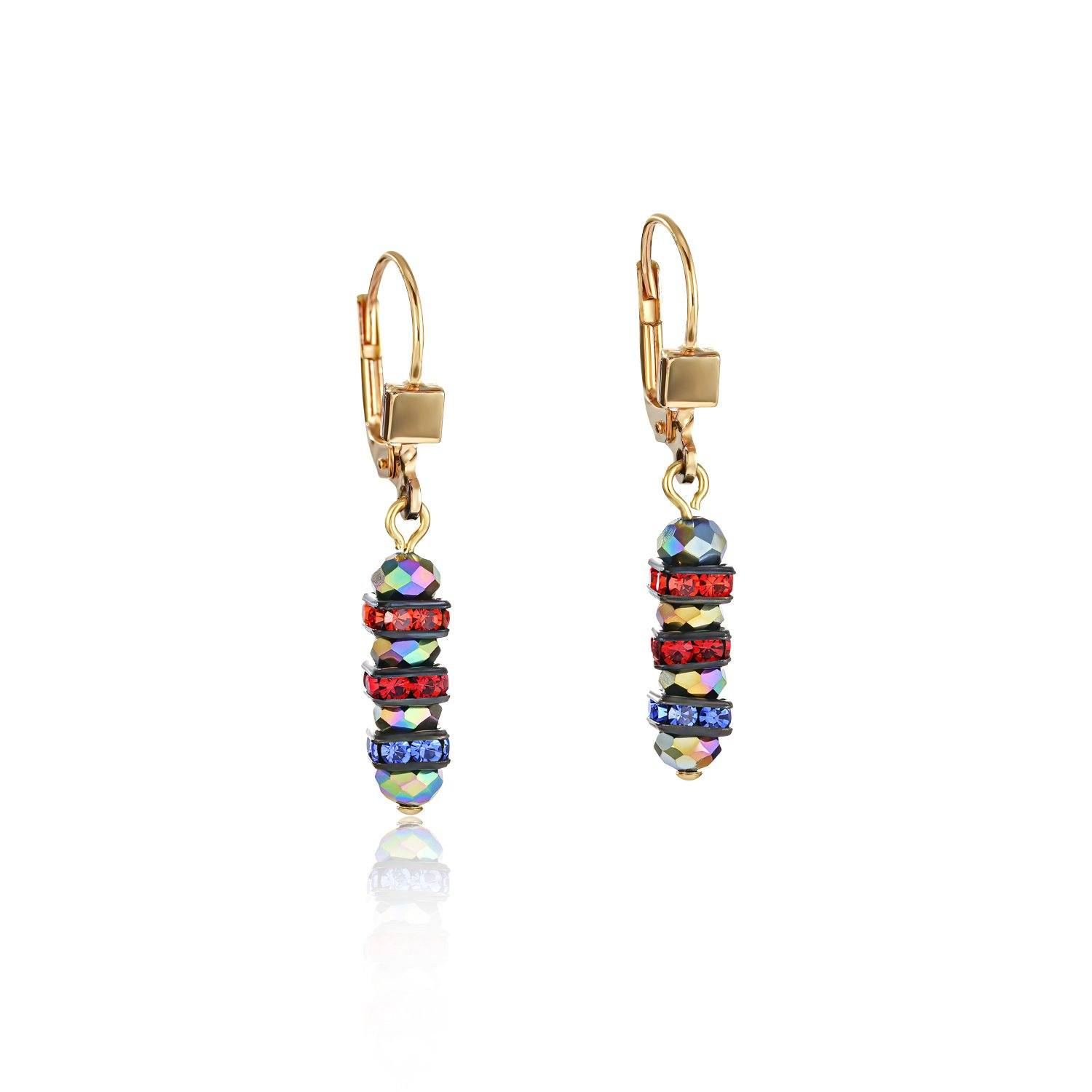 Coeur de Lion Rhinestone & Glass Earrings in Multicolour 4974/20-1500 Jewellery Coeur de Lion