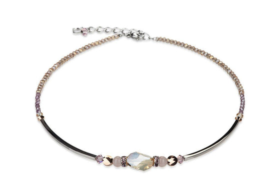 Coeur de Lion Necklace in Beige and Pale Pink K4609