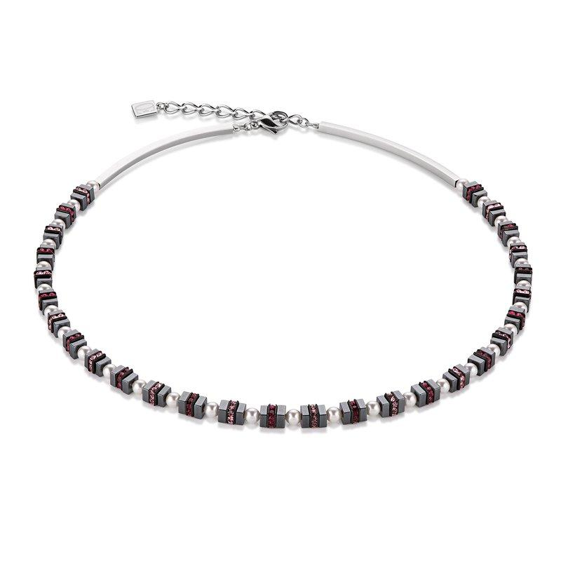 Coeur de Lion Hematite Necklace with Pearls 4786/10-0400